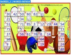 Sports Crossword kukuba 1 Tambola Housie in Sports theme