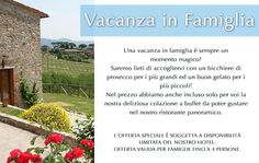 A family vacation is a magical time!     Our Suites are a great solution that can accommodate all of you together.     For families consisting of a maximum of 4 people, we can offer this special offer.     We look forward to welcoming the family with a glass of prosecco for the parents and a good ice cream for the kids!     We have also included in the price only for you our delicious buffet breakfast which can be enjoyed in our panoramic restaurant.