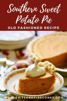My oh my, Sweet Potato Pie! Easy Old-Fashioned Southern Sweet Potato Pie tastes like a cool crisp Fall day, warm pungent spices, and Thanksgiving all wrapped up in one delicious and decadent bite. And, it's the perfect Thanksgiving dessert! Try this EASY traditional recipe this year for a delicious dessert that's sure to become a family favorite!