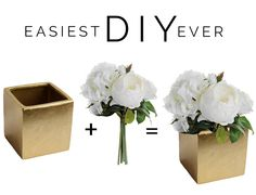 Easiest DIY centerpiece ever! Just take a pre-made silk bouquet and add it to a container. Done! #afloral