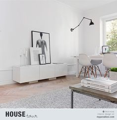 A chic 42 spm apartment in Sweden   My Paradissi Tiny Living Rooms, Home And Living, Scandi Living, Interior Minimalista, Apartment Layout, Contemporary Interior Design, Room Interior, Interior Inspiration, Interior Architecture