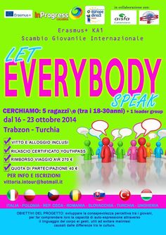 16th-23th Oct 2014 - Trabzon, Turchia. Let Everybody Speak. Youth Exchange