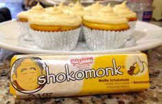 Shokomonk Coconut Banana Split Cupcakes
