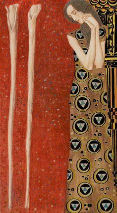 """Golden Tarot of Gustav Klimt ( """"Stäbe"""")"""