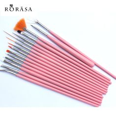 15pcs Nail Art Brush Set DIY Nail Tips Dotting Painting Drawing Polish Brush Pen Professional UV Nail Gel Manicure Makeup Tool #Affiliate