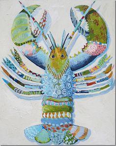 LOVE the whimsical lobster painting! artist Nancy Westfall