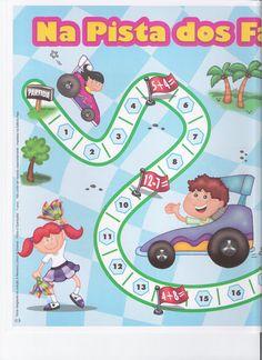 Spelbord raceauto 2, free printable / Jogo - Na pista dos fatos