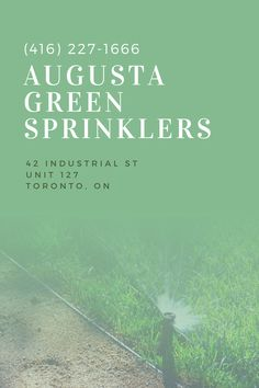 Save on water, energy, and money by investing in lawn sprinkler systems. Toronto property owners can take advantage of these benefits by calling Augusta Green Sprinklers.
