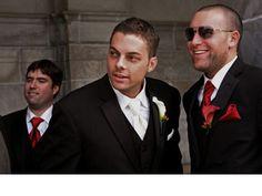 Red ties for groomsmen