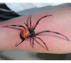 Black Widow Tattoo, Beautiful Tattoos, Picture Tattoos, Spider, Tatoo, Spiders