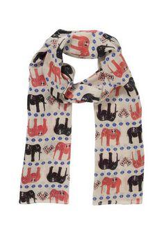 F&F Elephant Print Scarf