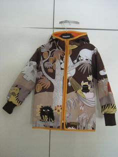 Self made cotton jacket from Moomin fabric. Pattern by ottobre design.