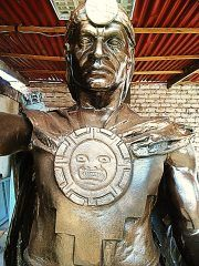 ROSTRO MANCO CAPAC ARTISTICO bronce