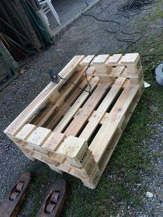 Palette Furniture, Pallet Furniture Designs, Pallet Garden Furniture, Wooden Pallet Projects, Diy Furniture Plans Wood Projects, Pallet Designs, Outdoor Projects, Recycled Pallets, Wood Pallets