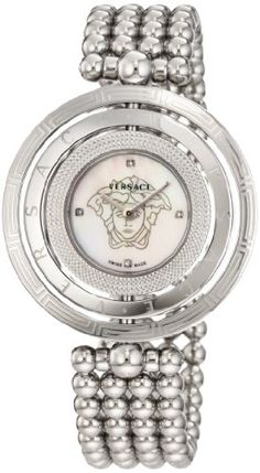 Versace Women`s 80Q99SD497 S099 Eon 3 Rings Stainless Steel Bracelet with Mother-of-Pearl Dial and Diamond Accents Watch for only $793.90 You save: $1,131.10 (59%)