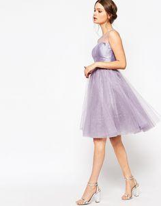 Image 4 ofChi Chi London Petite Sparkle Tulle Prom Dress
