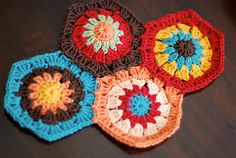 the inspiration for my color palette #granny #hexagon #crochet