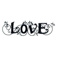 """by Accent Plus Let love bloom in your home! This pretty black iron wall art features the word LOVE in a lovely script, surrounded by scrolling ivy. It's the perfect touch to add a little love to your decor. 28"""" x 0.375"""" x 8"""""""