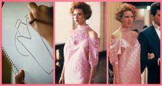 """Molly Ringwald em """"A Garota de Rosa-Shoking"""" (1986) – Andie Walsh, a protagonista, se transformou em um ícone teen pela atitude e personalidade ao criar seu próprio vestido para a formatura, mesmo sem dinheiro ou um par para acompanhá-la."""
