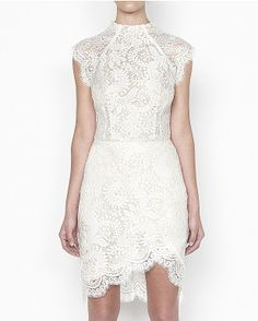 White Dress - Lover The Label - Sara Fitted Dress