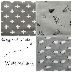 Ukkie in Style Tricot stoffen - baby - kleding - grijs - wit