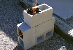 A great video showing you how to make a very inexpensive and highly functional rocket stove with cinderblocks.