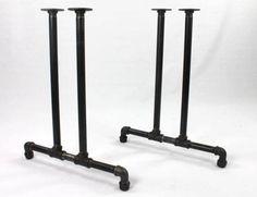 Pipe Leg Table, Diy Table Legs, Iron Table Legs, Table Diy, Dining Table, Rustic Table, Patio Table, Rustic Decor, Pipe Furniture