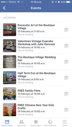 Just some events we have planned for a fun filled February at The Boutique Village!!