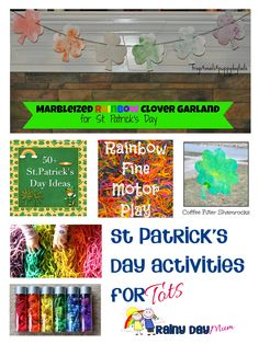 St Patrick's Day Activities and Crafts from Rainy Day Mum