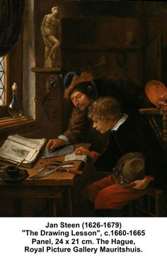 Jan Steen  ...  The Drawing Lesson