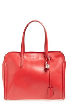 Alexander McQueen Padlock Calfskin Duffel available at #Nordstrom