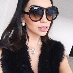 Winla Fashion Brand Designer Sunglasses Women Ladies Sun Glasses Retro  Round Style Big Frame UV400 Oculos 7e50633d6d