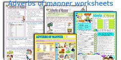Adverbs of manner worksheets