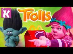 ТРОЛЛИ игрушки из мультфильма Детское видео для детей Trolls toys video for kids - YouTube