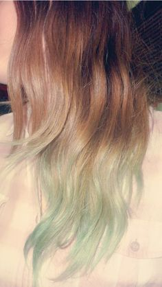 Pastel Teal ombre hair