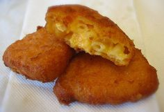 Fried Mac and Cheese ala Paula . Heart attack on a plate.