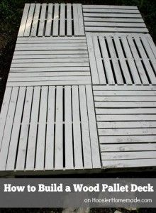 This step by step tutorial of how to build a wood pallet deck is an amazing money saving way to re purpose used wood pallets into a functional outdoor recr