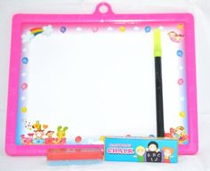 Double Sided Mini Fun Slate (Color May Vary) - Side 1.