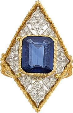 Sapphire, Diamond Ring, Buccellati