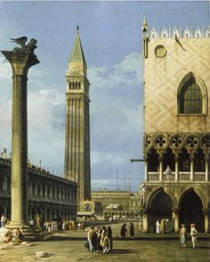 Bernardo Bellotto (Canaletto): The Piazzetta, Venice, 1743.