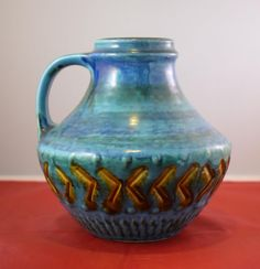 Carstens Tönnieshof Design Keramik Vase 60s 42-15  WGP Vintage Modernist Ceramic