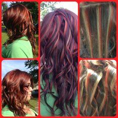 More hair color fun... The tricolor!!:)