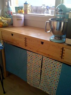 ikea norden buffet...  i have this and that mixer!  looks cute.     kitchen bench by pilgrim_lee, via Flickr