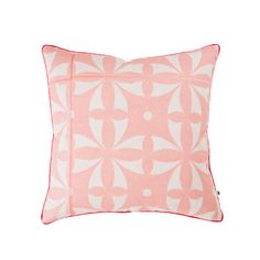 Dusty pink with a geometric pattern? Appropriate for the living room, bedroom or a child's room. SPECS linen cushion hand screen printed in xanthe tiled design Dusky Pink Cushions, Bonnie And Neil, Pink Tiles, Cushions Online, Luxury Throws, Decorative Cushions, Throw Cushions, Dusty Pink, Dusty Rose