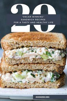 20 'Oscar Winning' Sandwich Recipes For A Tasty And Healthy Life Healthy Sandwiches, Wrap Sandwiches, Sandwich Recipes, Pork Recipes, Drink Recipes, Grilled Pesto Chicken, Crispy Baked Chicken, Gourmet Chicken, Toast Sandwich