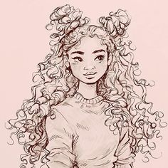 Hughes, - -van Beth Hughes, - - SKETCHES Discover and share the most beautiful images from around the world Painting rose thoughts 16 Best ideas Curly Hair Comics - Cartoons About Having Curly Hair sketches - vues - - ⋯⋯⋯⋯⋯⋯⋯⋯⋯⋯⋯⋯⋯ Girl Drawing Sketches, Pencil Art Drawings, Cute Drawings, Easy Sketches To Draw, Drawings Of Girls, Drawing Poses, Sketch Art, Illustration Sketches, Cartoon Drawings