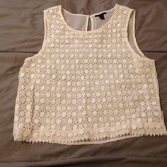 White lace top What says spring, better than white lace do t be shy, make me an offer! Forever 21 Tops Tank Tops