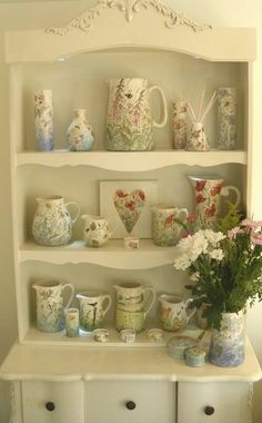 Jenny Bell hand painted pottery, personalized gifts