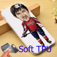 Ovechkin TPU Phone Cover Case for iPhone 6 6S 7 Plus 5S 5 SE 5C 4 4S ( Soft TPU / Hard Plastic for Choice )