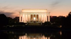 Lincoln Memorial at dusk National Mall and Memorial Parks District of Columbia